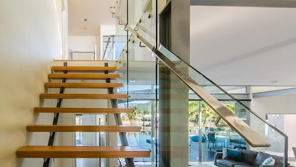 Stairs to mezzanine & bedroom 6