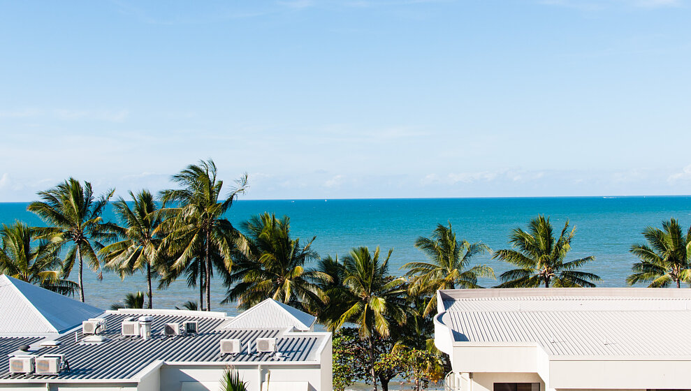 Trinity Beach Penthouse - Coconut Palms along the beach front