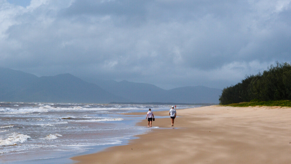 A wonderful wild beach to walk