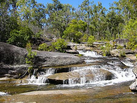 Cascade above Davies Creek falls