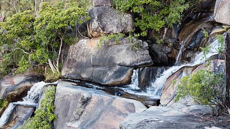 Halfway down Davies Creek falls
