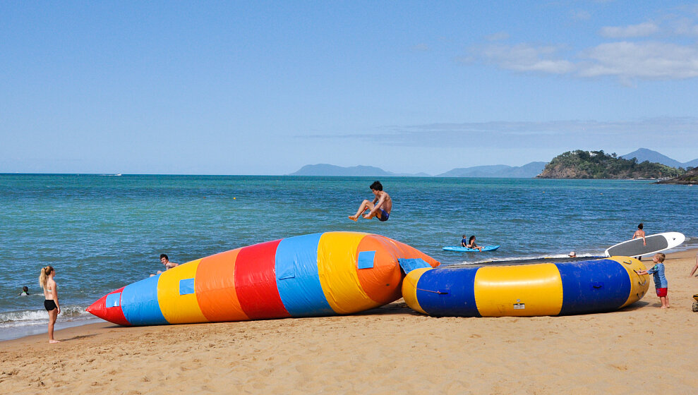 Trinity Beach Water Sports  hire - Trampoline & bounce-bag