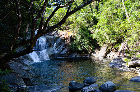 The upper swimming hole at Josephine Falls