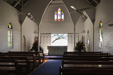 Interior of St Marys by the sea, Port Douglas