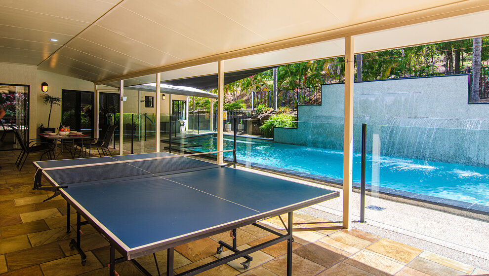 PingPong beside swimming pool