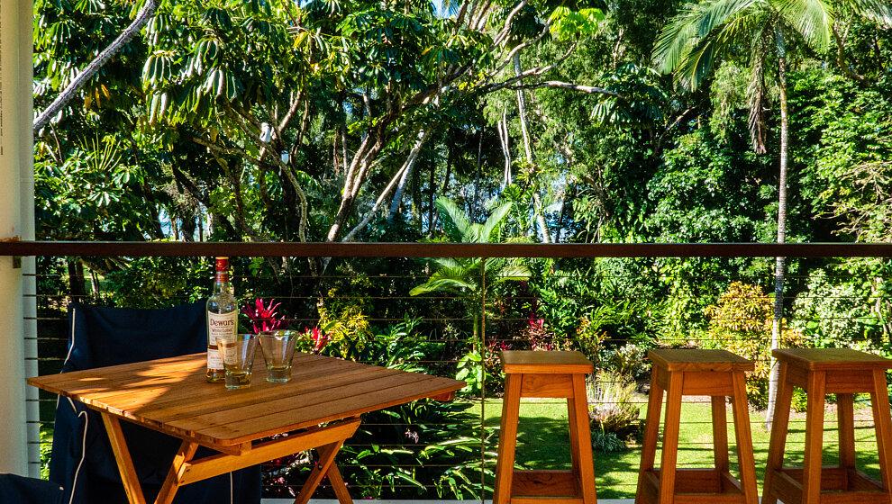 Verandah overlooking the garden