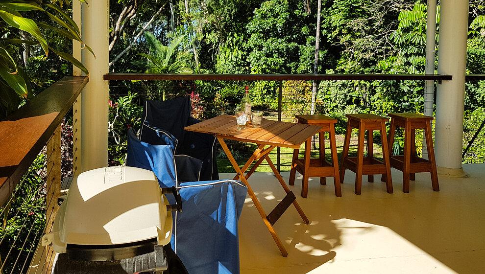 Weber BBQ & verandah view