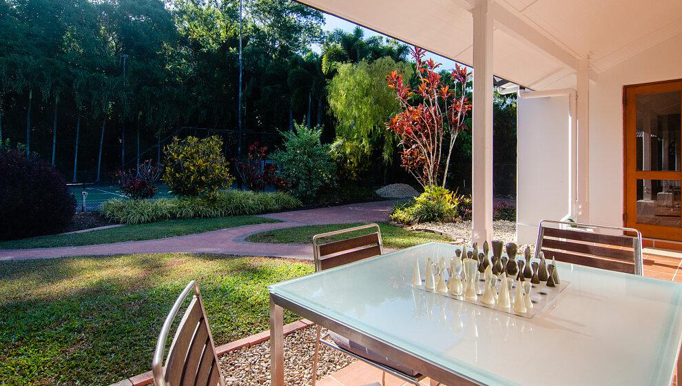 Chess set on rear verandah