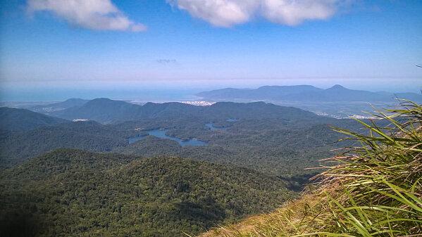 view of Lake Morris from the Lamb Range