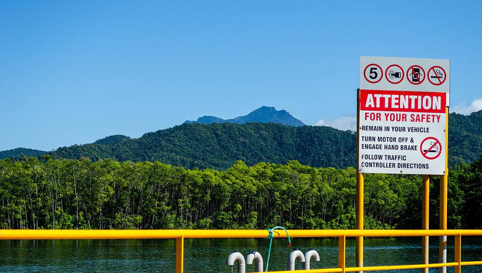 Daintree ferry and Thornton Peak