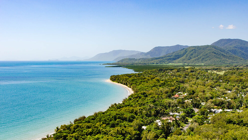 Coast view from Port Douglas to Buchan Point