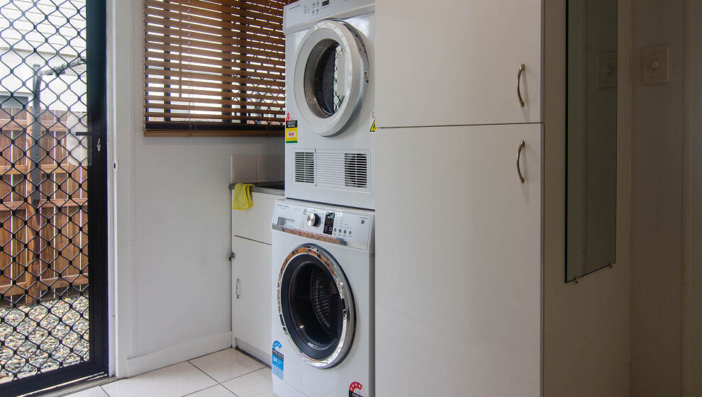 Laundry with outside access to line