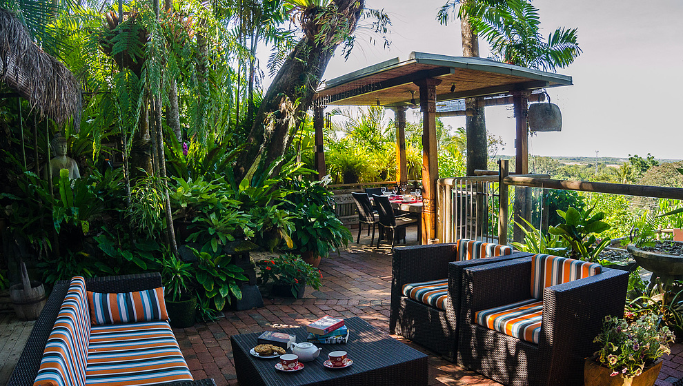 Touch of Bali - Patio seating & pavilion
