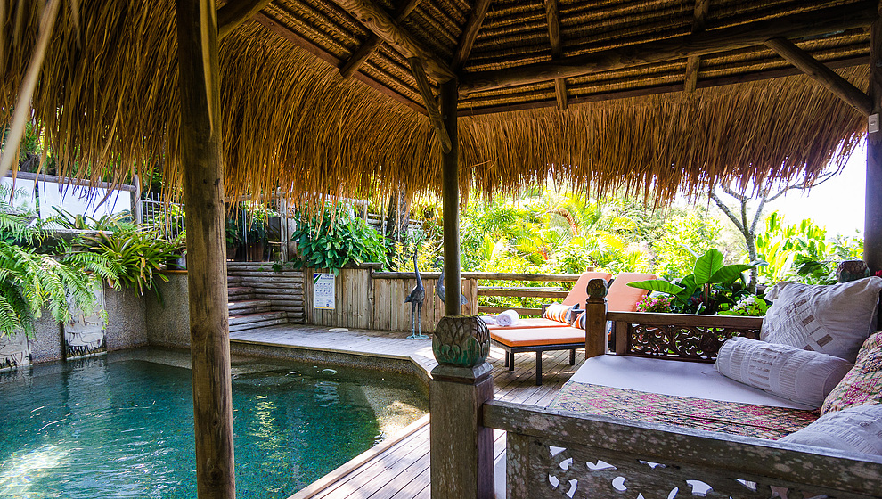 Touch of Bali - Pool from cabana