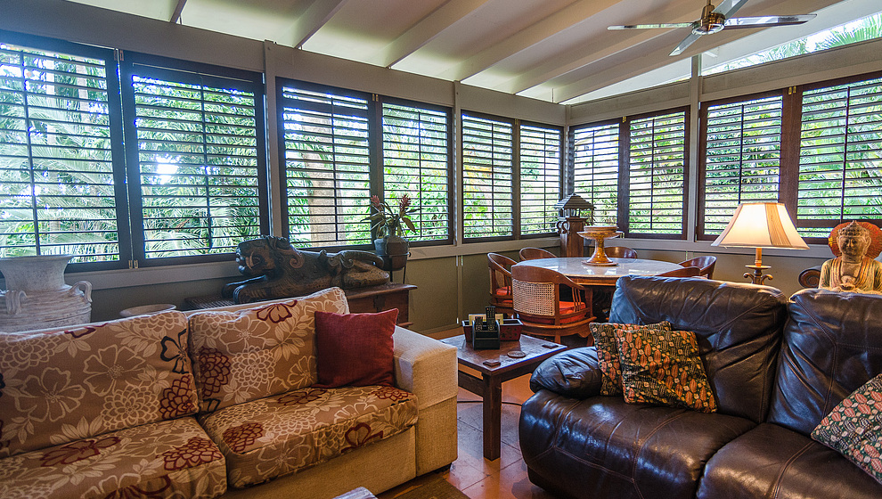 Touch of Bali - plantation style living room