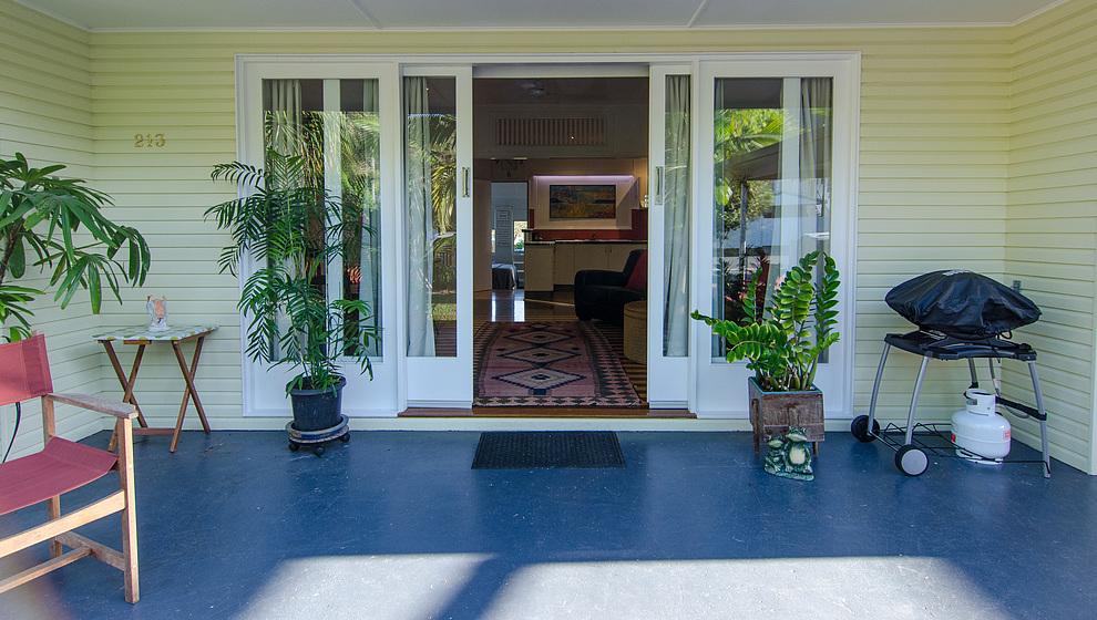 Pandanus front door & BBQ