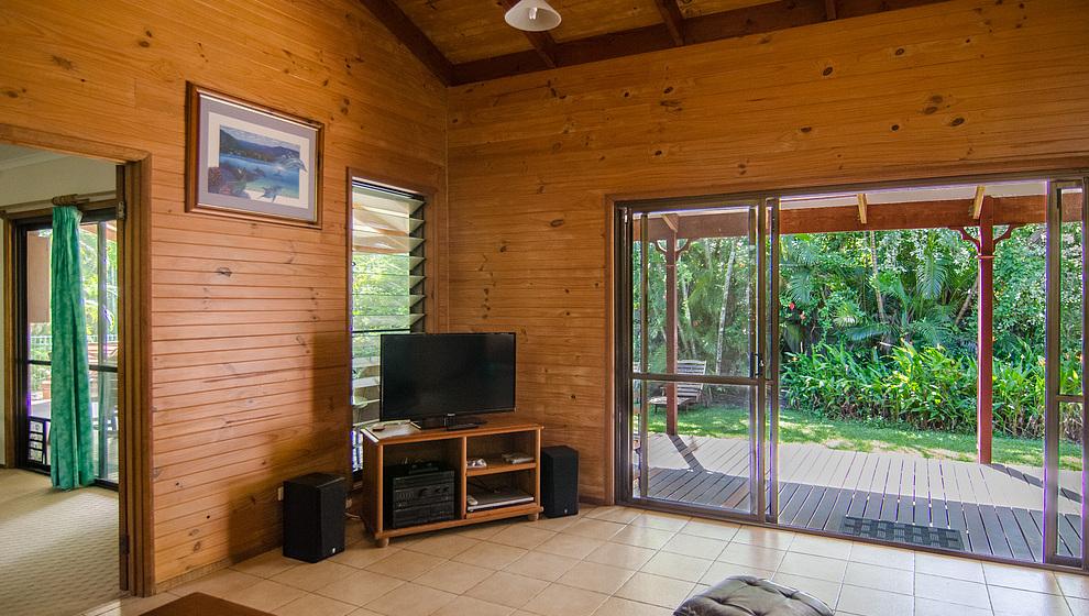 The living room opens onto the verandah