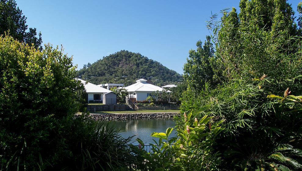 View across Blue Lagoon from Bambusa House, Trinity Beach