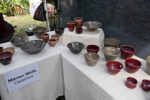Marian Wolfe Ceramics, sunday market The Tanks Cairns