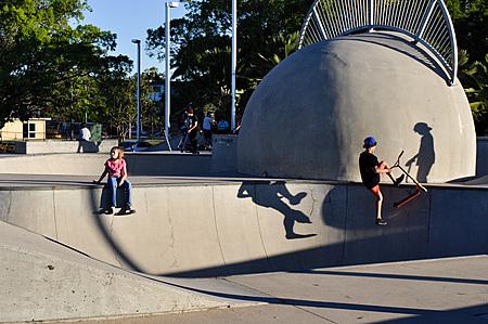 Cairns Esplanade skate bowl - shadows